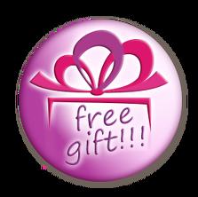 Logo Free gift rund