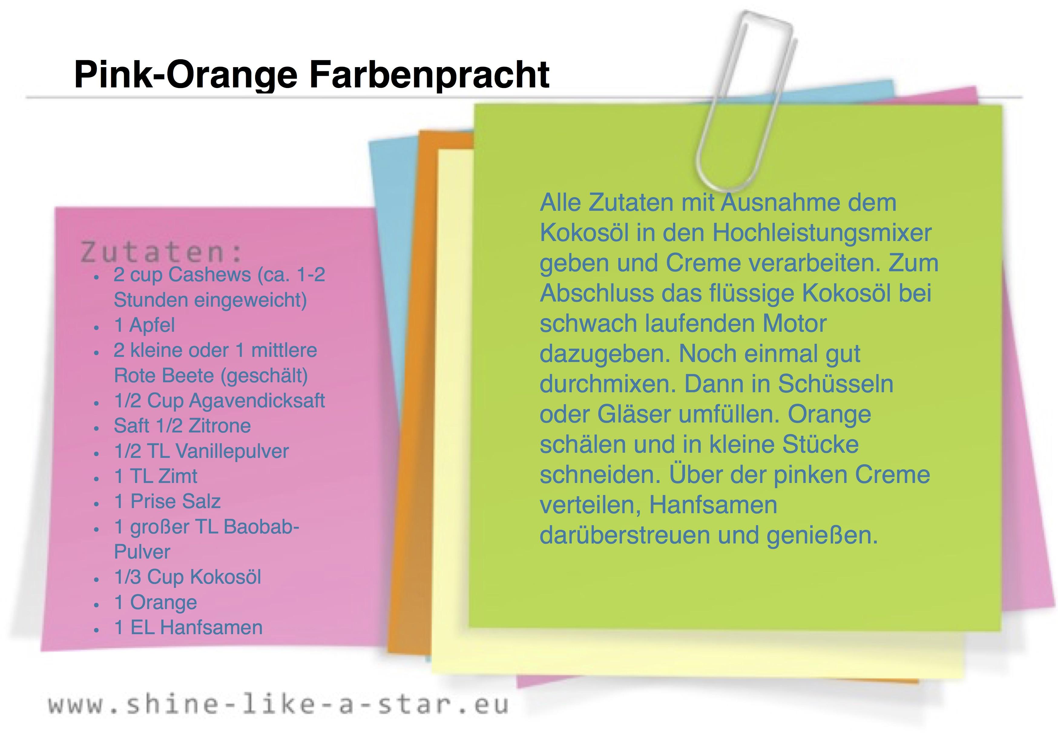 Pink-Orange Farbenpracht