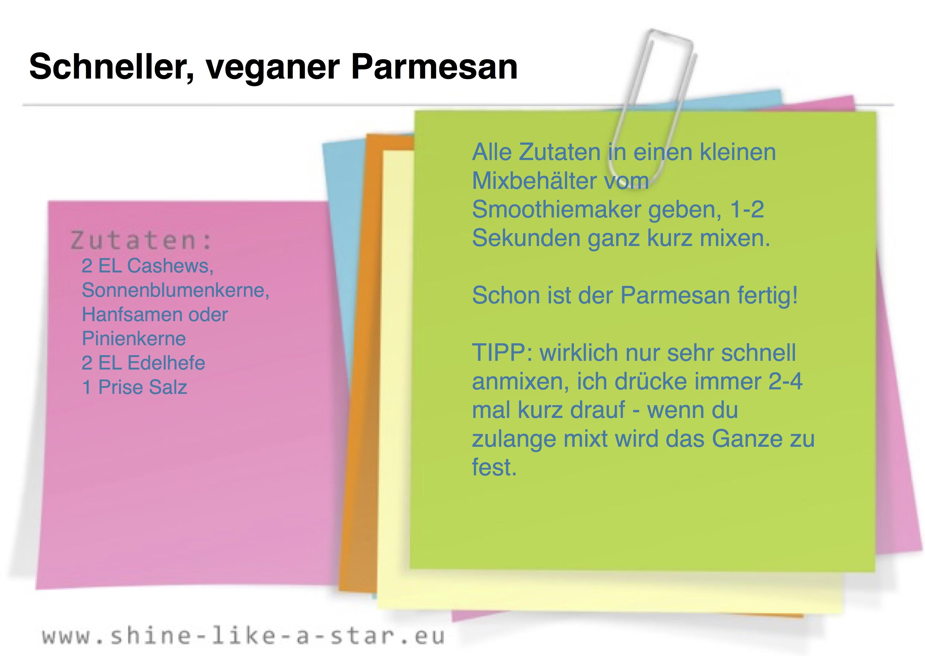 Schneller, veganer Parmesan
